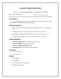 Basic Resumes Templates Resume Template Basic Resume Examples Diacoblog Com