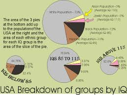 Pie Chart Shows The Intelligence Of Different Racial Groups