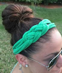 diy fabric headband with celtic knot from tshirts