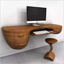 best computer furniture. furniture unique custom wood wall mounted floating computer desk with keyboard tray drawer and stool best k