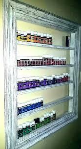 nail polish wall rack display essential oil diy mount ikea nz