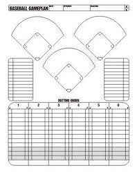 Baseball Lineup And Position Chart Free Download Little League Baseball Game Plan Little
