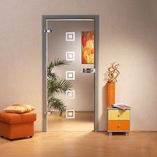 interior clear glass door. Interior Swing Glass Door / Clear + Frosted Square Design