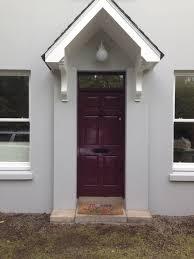 Farrow  Ball Pavilion Grey With Brinjal Front Door FarrowBall - Farrow and ball exterior colours