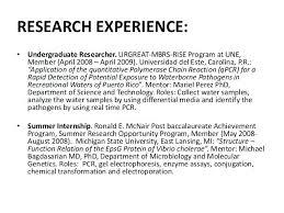 Resume Undergraduate Simple Research Experience On Resume Undergraduate Resume Examples No