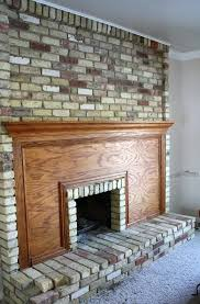 How To Make A Dated Fireplace Look Amazing  Brick Fireplace How To Clean Brick Fireplace