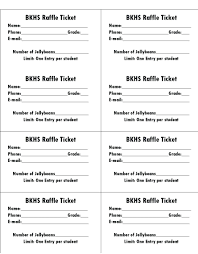 Template For Tickets