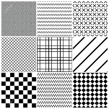 geometric black and white wallpaper set of 9 abstract patterns classic  seamless vector illustration for walls