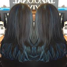 Dark Hair With Blue Highlights Hair