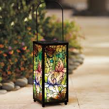 glass mosaic solar lantern outdoor lighting brylanehome