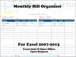Credit Card Tracker Excel Bill Management Excel Template Chalen Me