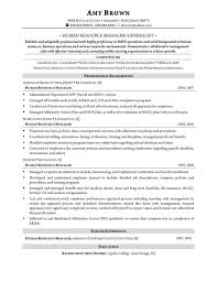 Human Resource Generalist Resume Student Resume Template Hr Manager