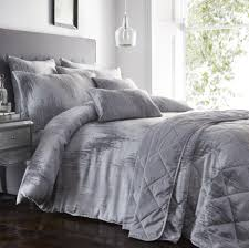 duvet cover sets grey and silver