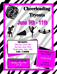 Cheer Tryout Flyer Cheerleading Tryouts Publisher Flyer Free