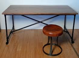 desk steel pipe desk metal office desk black metal table legs