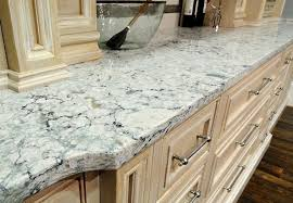 close up picture of cambria quartz countertop on white kitchen cabinet