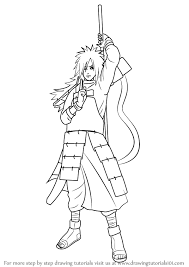 learn how to draw madara uchiha from naruto naruto step by step drawing