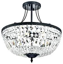 flush crystal chandelier semi flush chandelier crystal flush chandelier black and chrome semi flush mount crystal chandelier