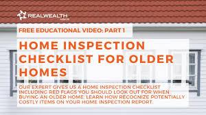 Video Home Inspection Checklist For Older Homes