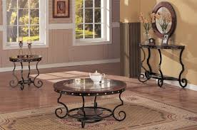Coffee Table Round Glass Coffee Table Set Is A Good Idea For