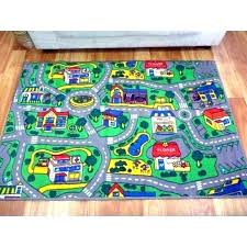 childrens car rug activity play rugs carpet with road design kids city streets mats mat