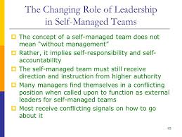 self managed teams team leadership and self managed teams ppt download