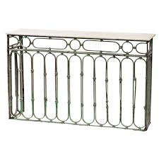 iron console table. Wrought Iron And Marble Console Table