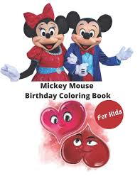 Mickey Mouse Birthday Coloring Book for ...