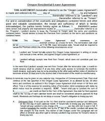 Lease Agreement Template Free Form Printable Sample Landlord ...
