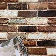 Peel Faux Brick Wallpaper 3D Wall Paper ...