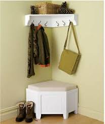 Corner Cubby Bench Coat Rack Storage for coats corner storage bench and coat rack corner cubby 7