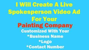 live spokesperson ad painting company demo