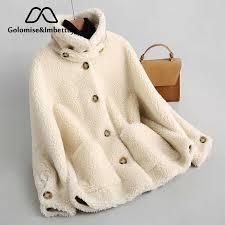 Golomise&Imbettuy <b>Real</b>/<b>Genuine Composite Shearling</b> Lamb Fur ...