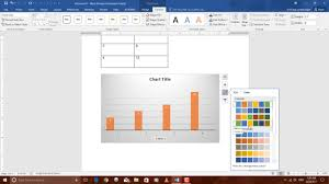 How To Create A Chart On Word How To Create Graph In Word 2016