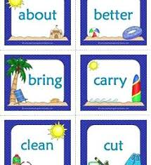 4th Grade Dolch Sight Words Flash Cards Sight Words Grade