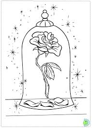 Beauty And The Beast Rose Coloring Pages At Getdrawingscom Free