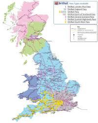 the britrail map britrail