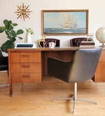 Mid century modern office desk Modernist Office Mid Century Modern Office Desk Amazing Executive By Kimball Apartment Therapy Inside 11 Supply Chimp Mid Century Modern Office Desk Contemporary Perfect Classic Yet