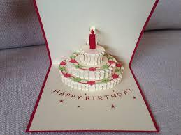 Birthday Cake 3d Pop Up Card Markets Online