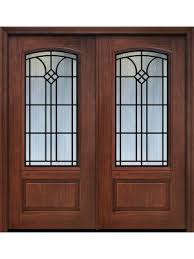 80 double 1 panel 3 4 arch lite cantania cherry walnut