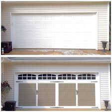 carriage garage doorPlum PrettyFaux Carriage Style Garage Doors DIY