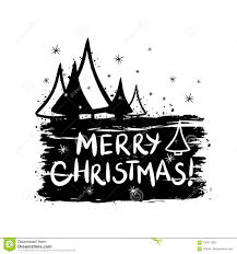 Merry Christmas Banner Print Merry Christmas Template For Banner Or Poster Stock Vector