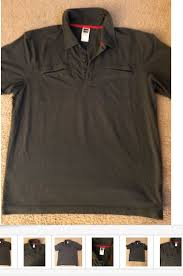 The North Face Mens Gray Fishing Guide Hiking Short Sleeve