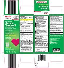 Severe Tussin Cf Solution Cvs Pharmacy