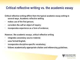 how to write academic essay examples critical reflective writing  how to write academic essay examples 6 critical reflective writing vs the academic essay write academic