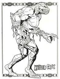 Small Picture Batman Arkham City Killer Croc Weapon Coloring Pages Killer Croc