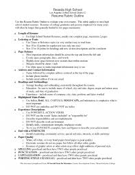 Sample High School Resume For College Scholarship Samples Students