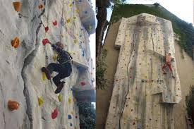 private outdoor climbing wall