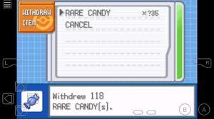 pokemon leafgreen rare candy cheat