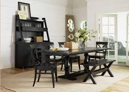 classy dark wood stained dining table bench with carving back wooden dining chair set with drawer